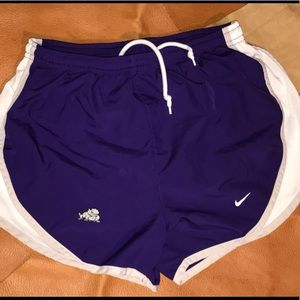 Women's small Nike TCU Dryfit shorts